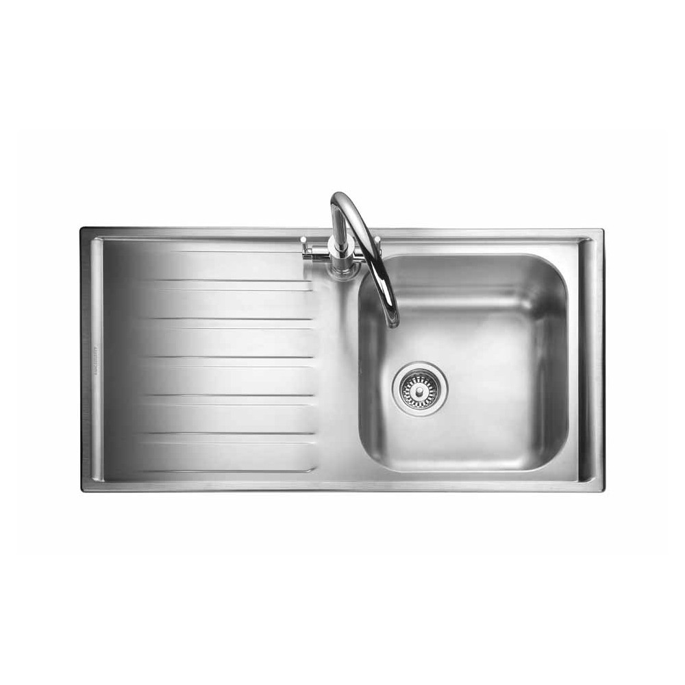 Rangemaster Manhattan MN10101L/ Single Bowl Stainless Steel Sink Left
