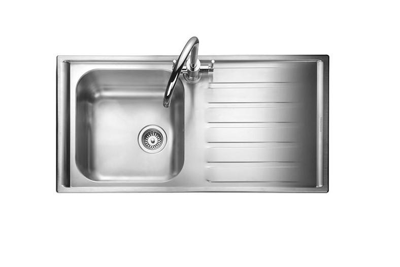 Rangemaster Manhattan MN10101R/ Single Bowl Stainless Steel Sink Right