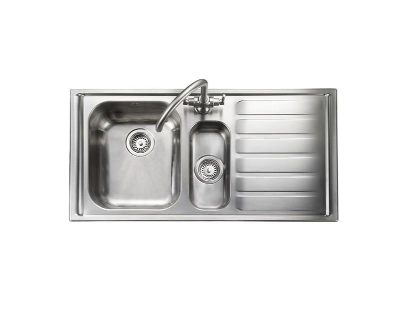 Rangemaster Manhattan MN10102R/ 1.5 Bowl Stainless Steel Sink Right