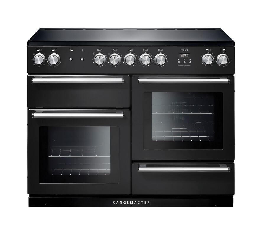 Rangemaster Nexus 110 Induction Charcoal Black Range Cooker NEX110EICB/C 125810