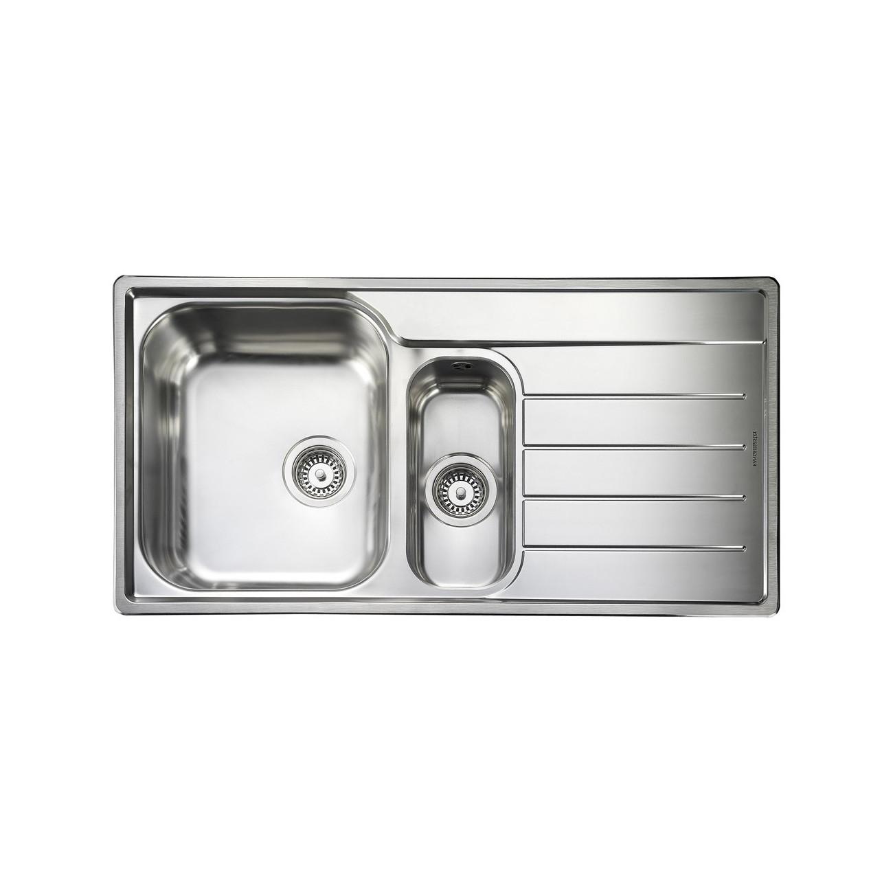 Rangemaster Oakland OL9852R/ 1.5 Bowl Stainless Steel Sink Right