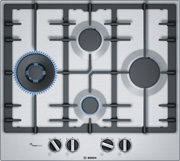 Bosch Serie 6 PCI6A5B90 Stainless Steel Gas Hob