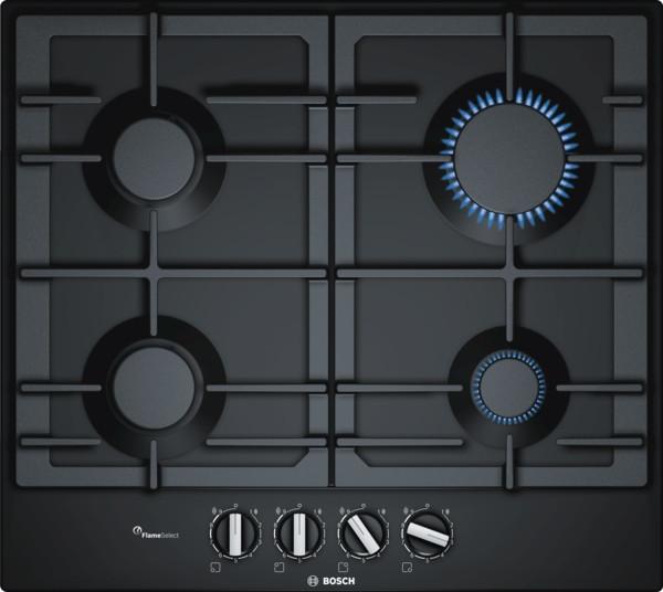 Bosch Serie 4 PCP6A6B90 Black Gas Hob