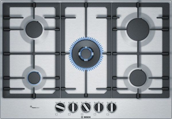 Bosch Serie 6 PCQ7A5B90 Stainless Steel Gas Hob