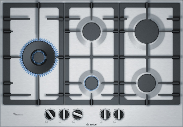 Bosch Serie 6 PCS7A5B90 Stainless Steel Gas Hob