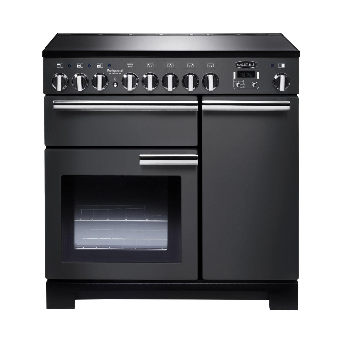 Rangemaster Professional Deluxe 90 Induction Slate Range Cooker PDL90EISL/C 105970