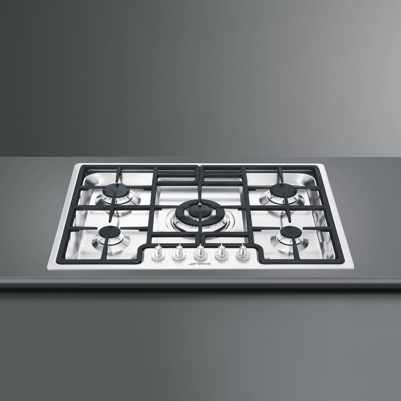 Smeg Classic 70 Stainless Steel Ultra Low Profile Gas Hob