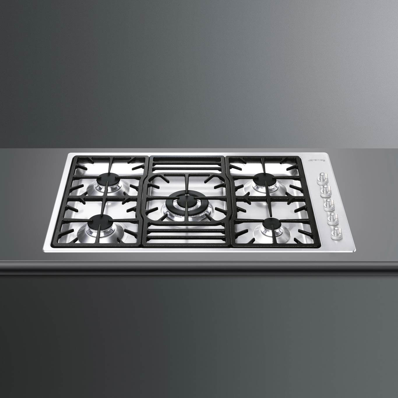 Smeg Classic 90 Stainless Steel Ultra Low Profile Gas Hob