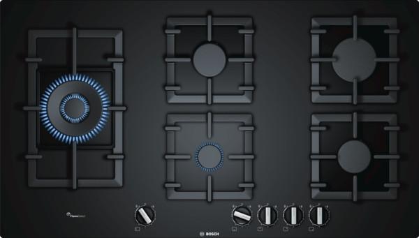 Bosch Serie 6 PPS9A6B90 Black Gas Hob