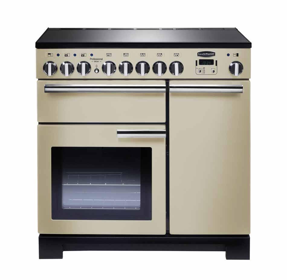 Rangemaster Professional Deluxe 90 Induction Cream Range Cooker PDL90EICR/C 97880
