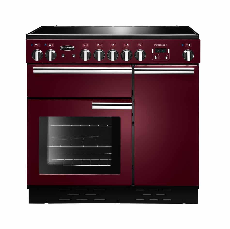 Rangemaster Professional Plus 90 Ceramic Cranberry Range Cooker PROP90ECCY/C 91840