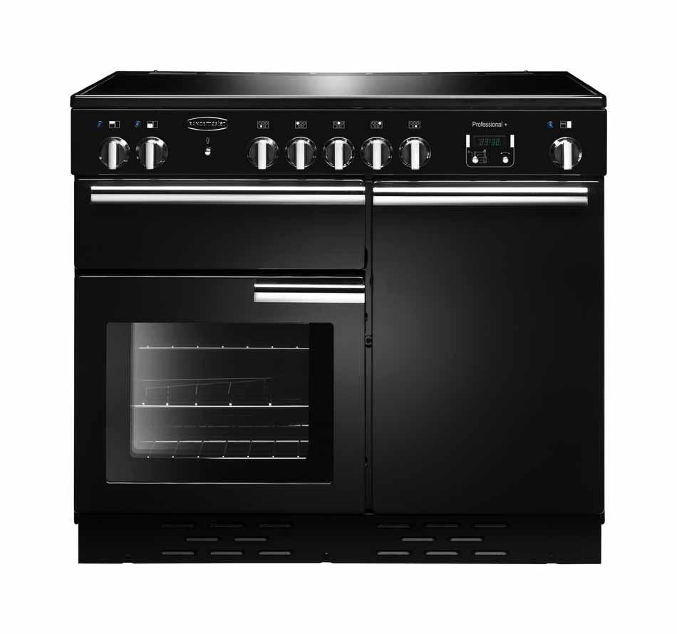 Rangemaster Professional Plus 100 Ceramic Black Range Cooker PROP100ECBL/C 112360