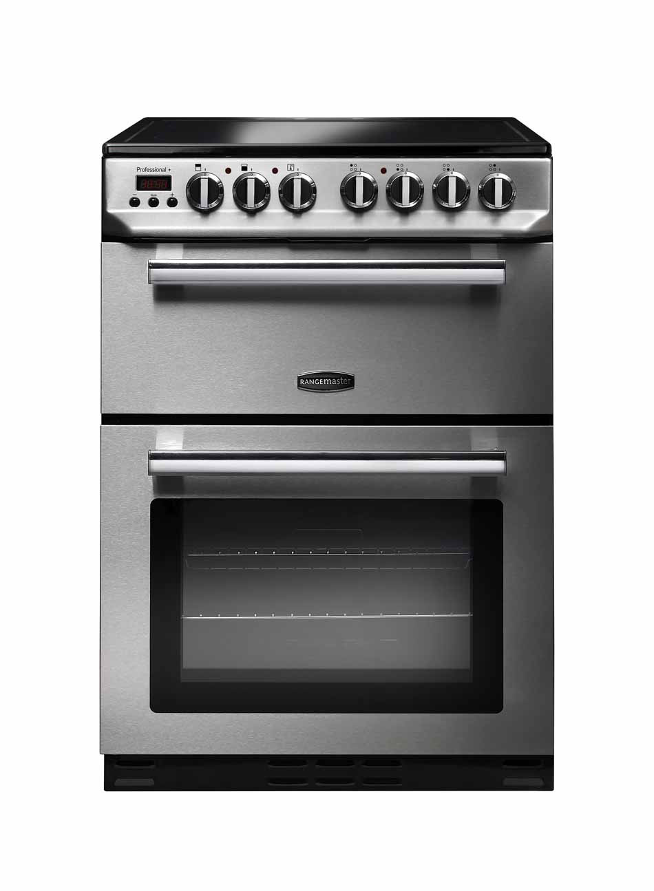 Rangemaster Professional Plus 60 Ceramic Range Cooker Stainless Steel/Chrome Trim