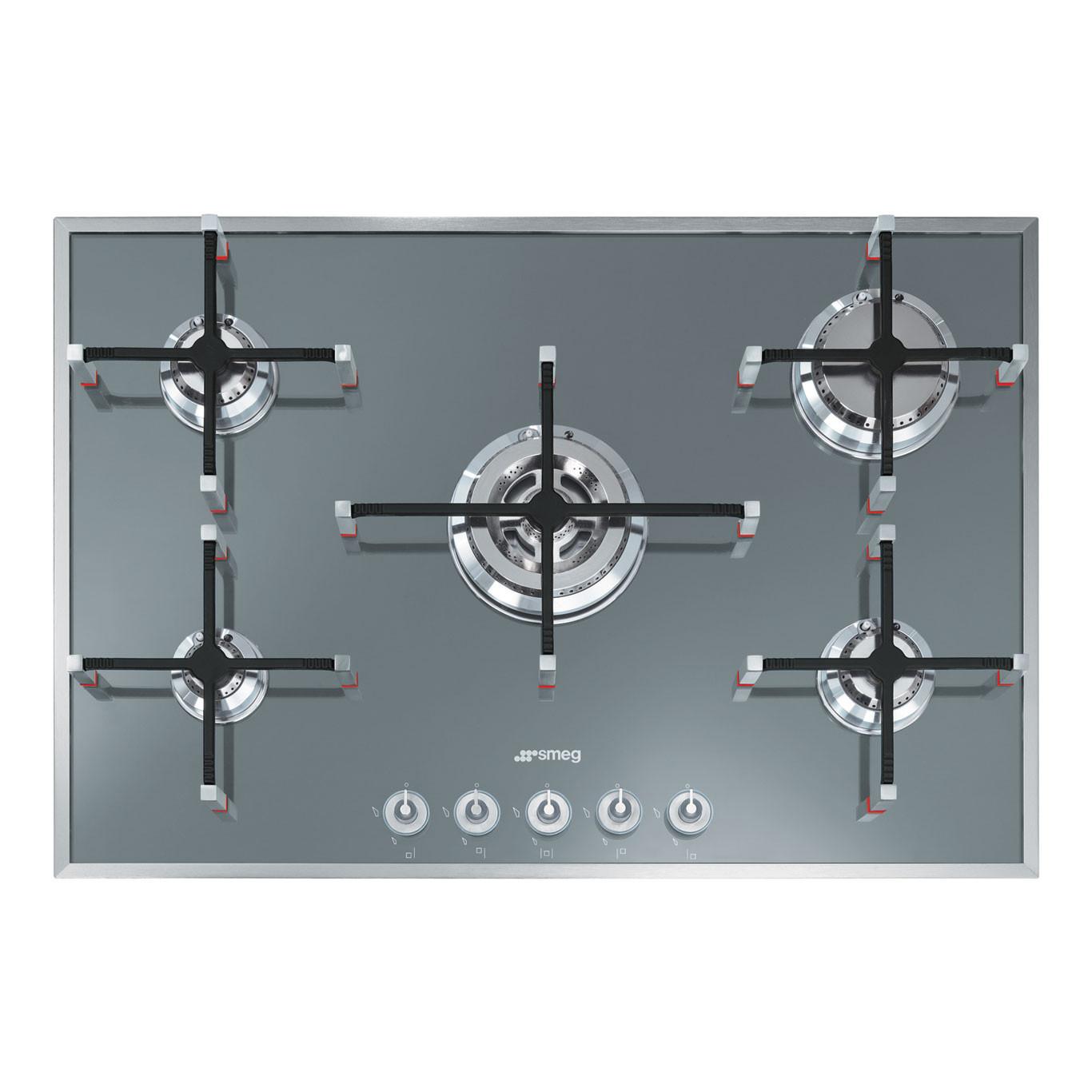 Buy Smeg PVS750 Linea 74cm Silver Gas Hob PVS750