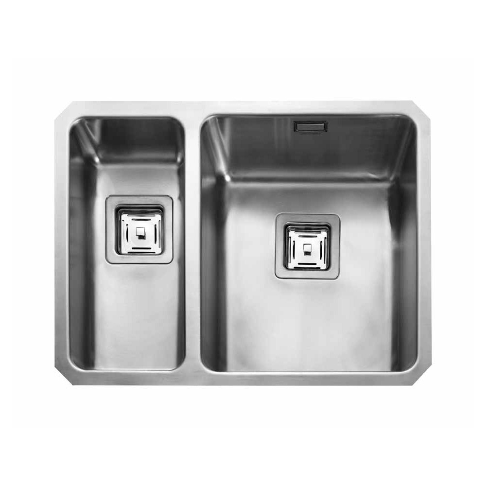 Rangemaster Quad QUB3418L/ 1.5 Bowl Undermount Sink Left