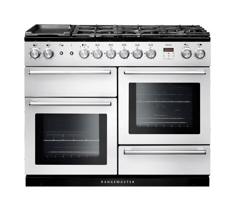 Rangemaster Nexus 110 Dual Fuel White Range Cooker 106110