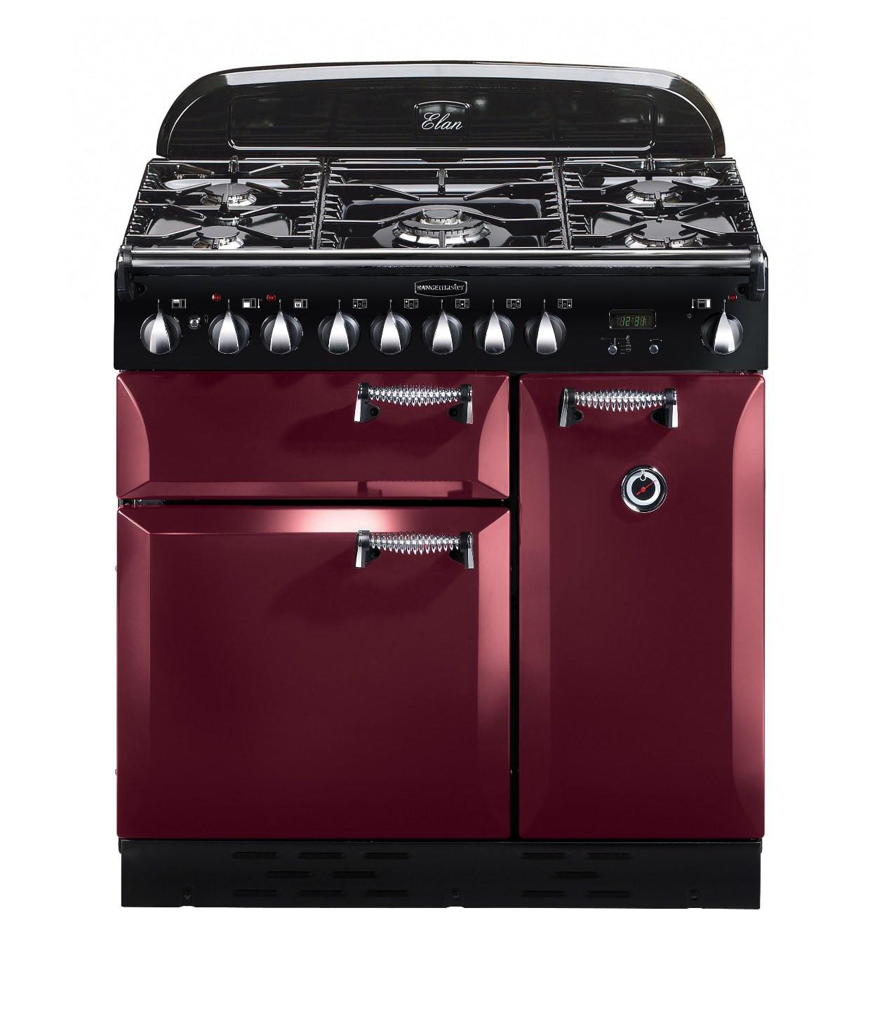 Rangemaster Elan 90 Dual Fuel Cranberry Range Cooker 101160