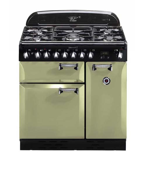 Rangemaster Elan 90 Dual Fuel Olive Green Range Cooker 100960