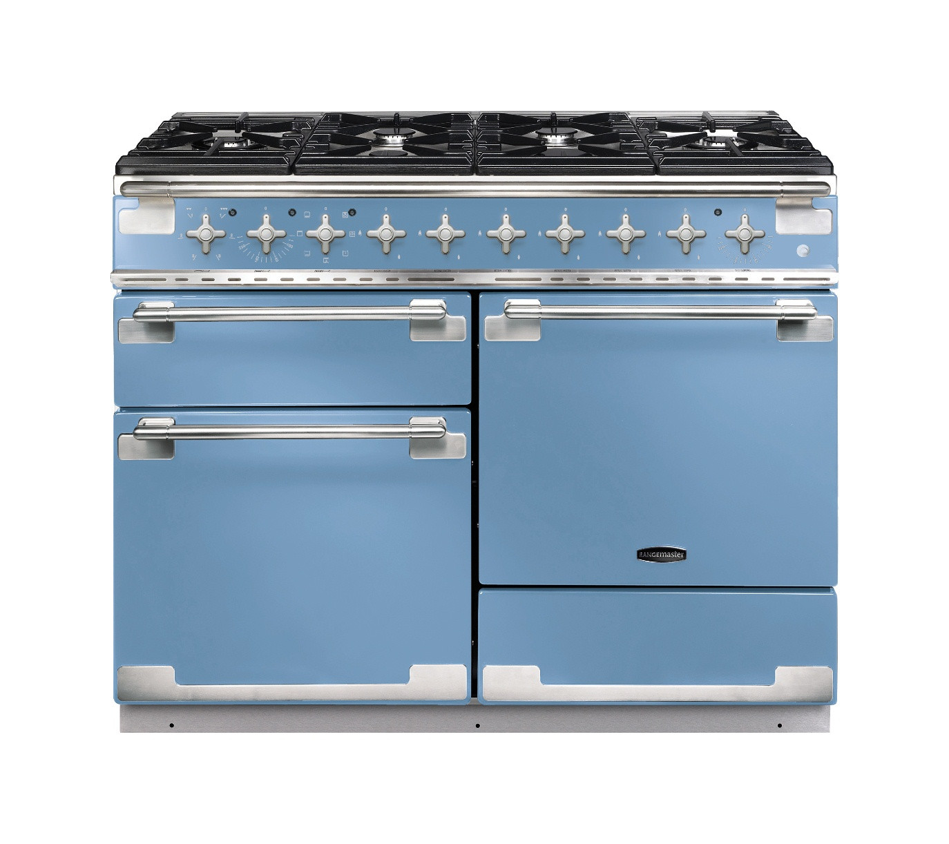Rangemaster Elise 110 Dual Fuel China Blue Range Cooker 94230