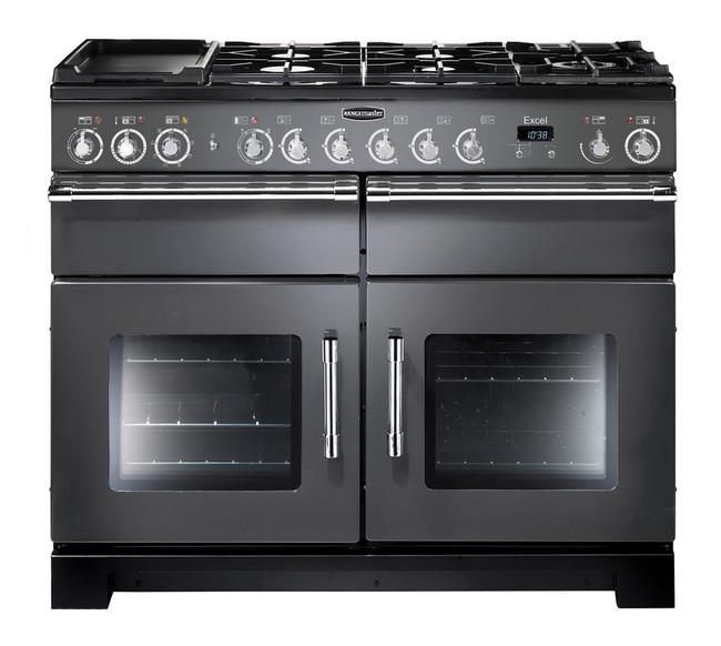 Rangemaster Excel 110 Dual Fuel Slate Range Cooker 10555