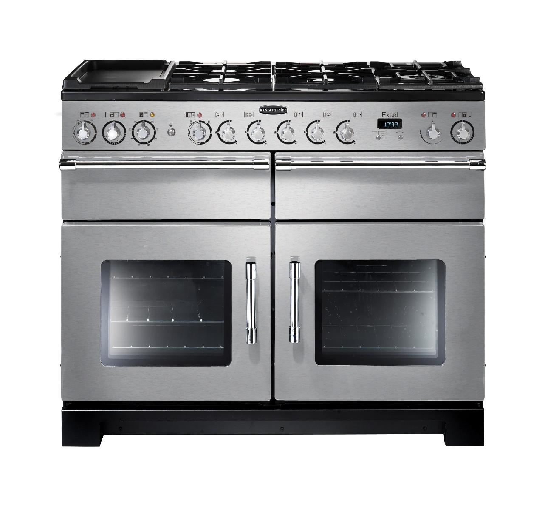 Rangemaster Excel 110 Dual Fuel Stainless Steel Range Cooker 86440