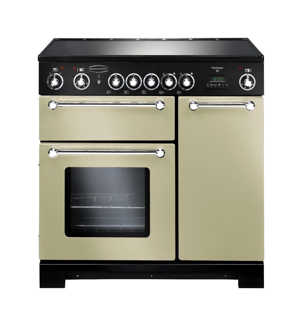 Rangemaster Kitchener 90 Ceramic Cream Range Cooker 79280