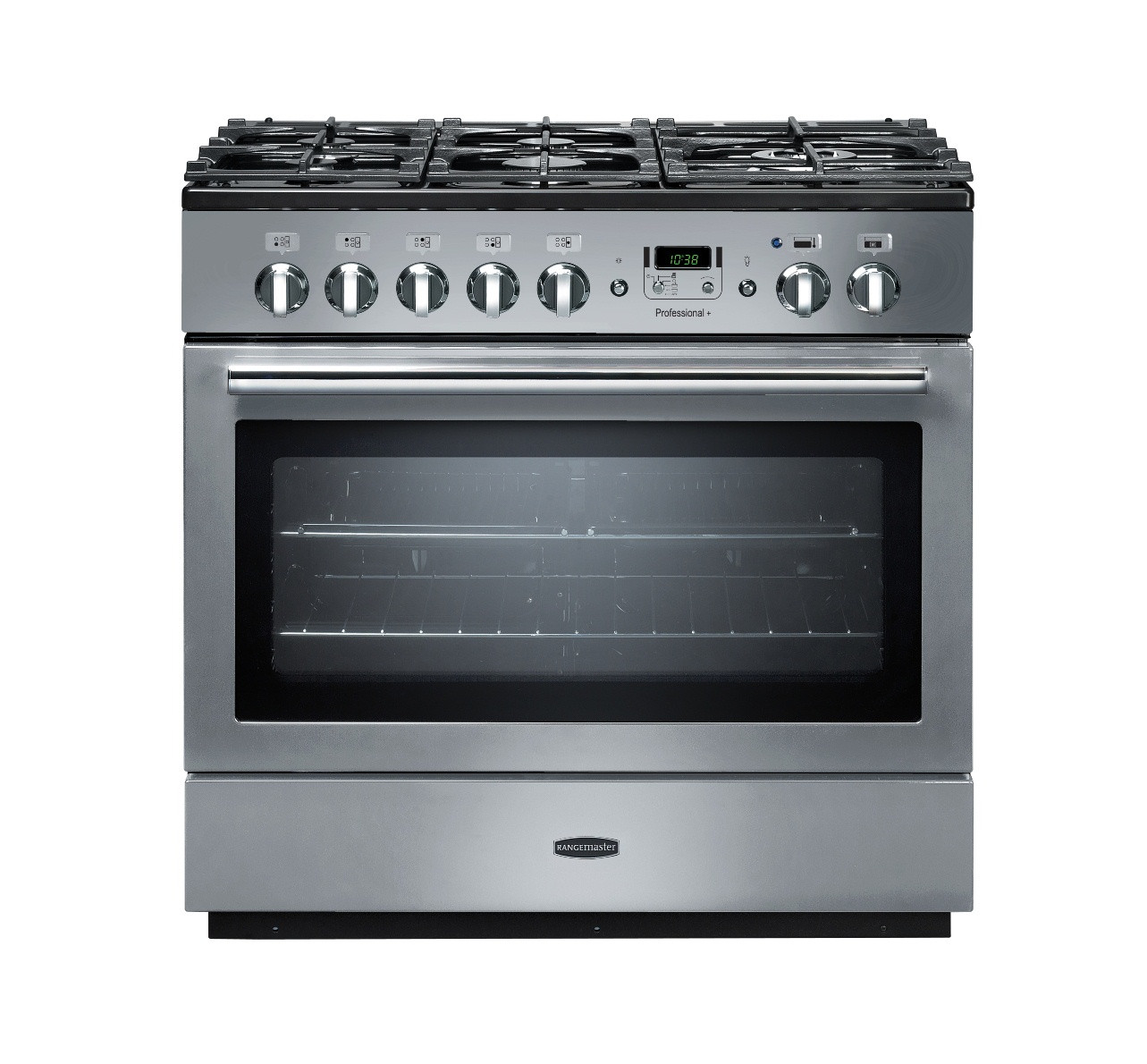 Rangemaster Professional Plus 90 FX Dual Fuel Stainless Steel Range Cooker PROP90FXDFFSS/C 89060