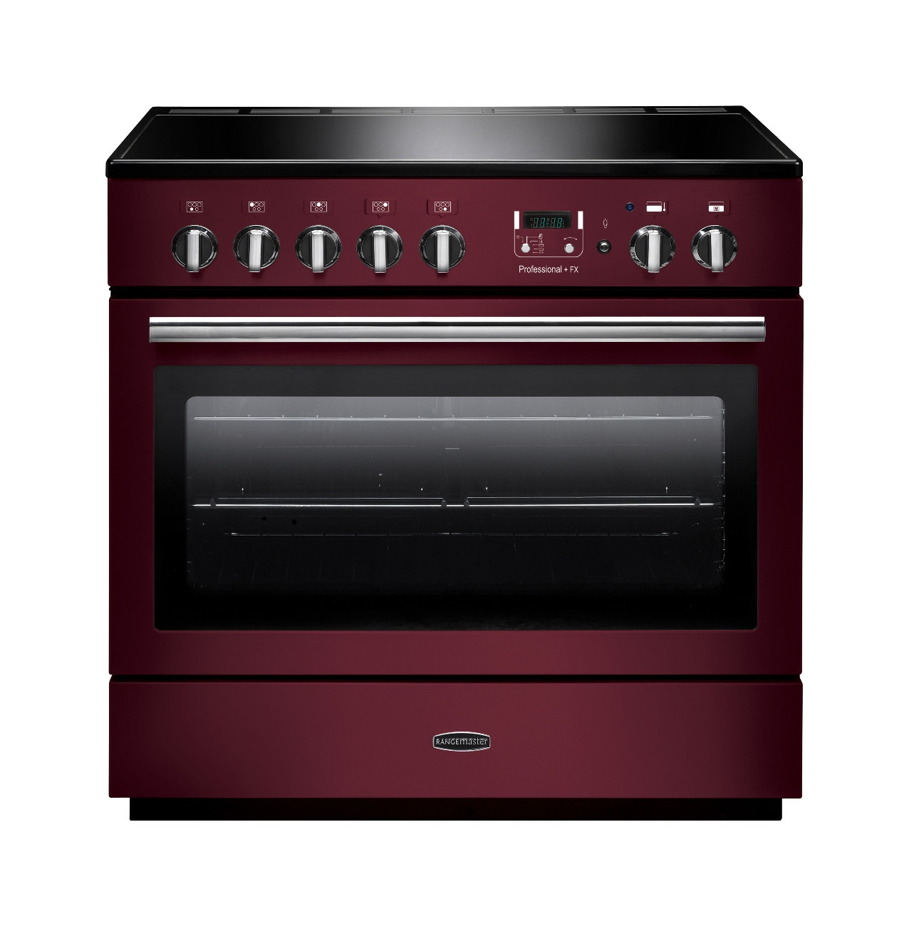 Rangemaster Professional Plus FX 90 Induction Cranberry Range Cooker PROP90FXEICY/C 96330