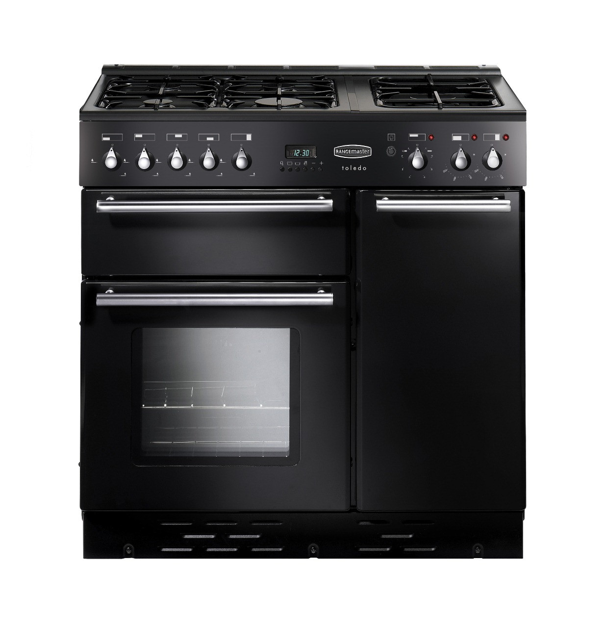 Rangemaster Toledo 90 Natural Gas Black Range Cooker 73540