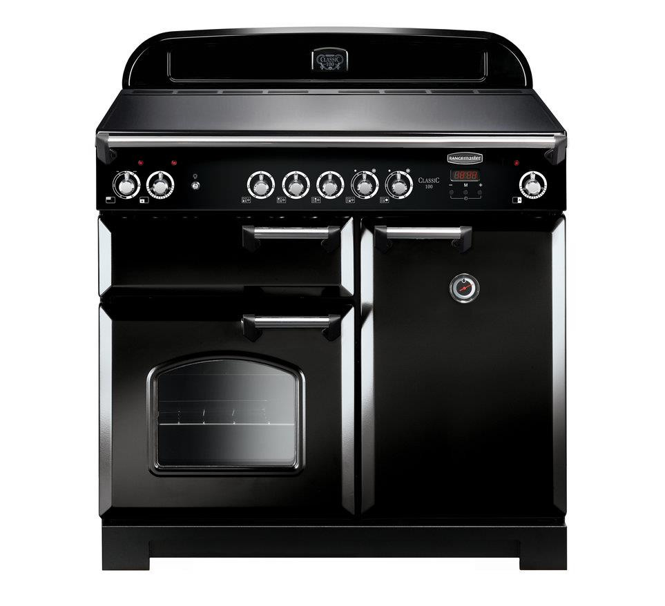 Rangemaster Classic 100 Induction Black Range Cooker CLA100EIBL/C 117120