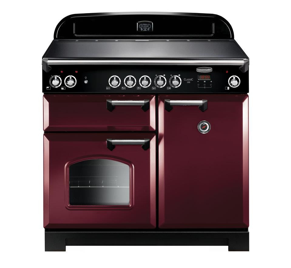 Rangemaster Classic 100 Induction Cranberry Range Cooker CLA100EICY/C 117140