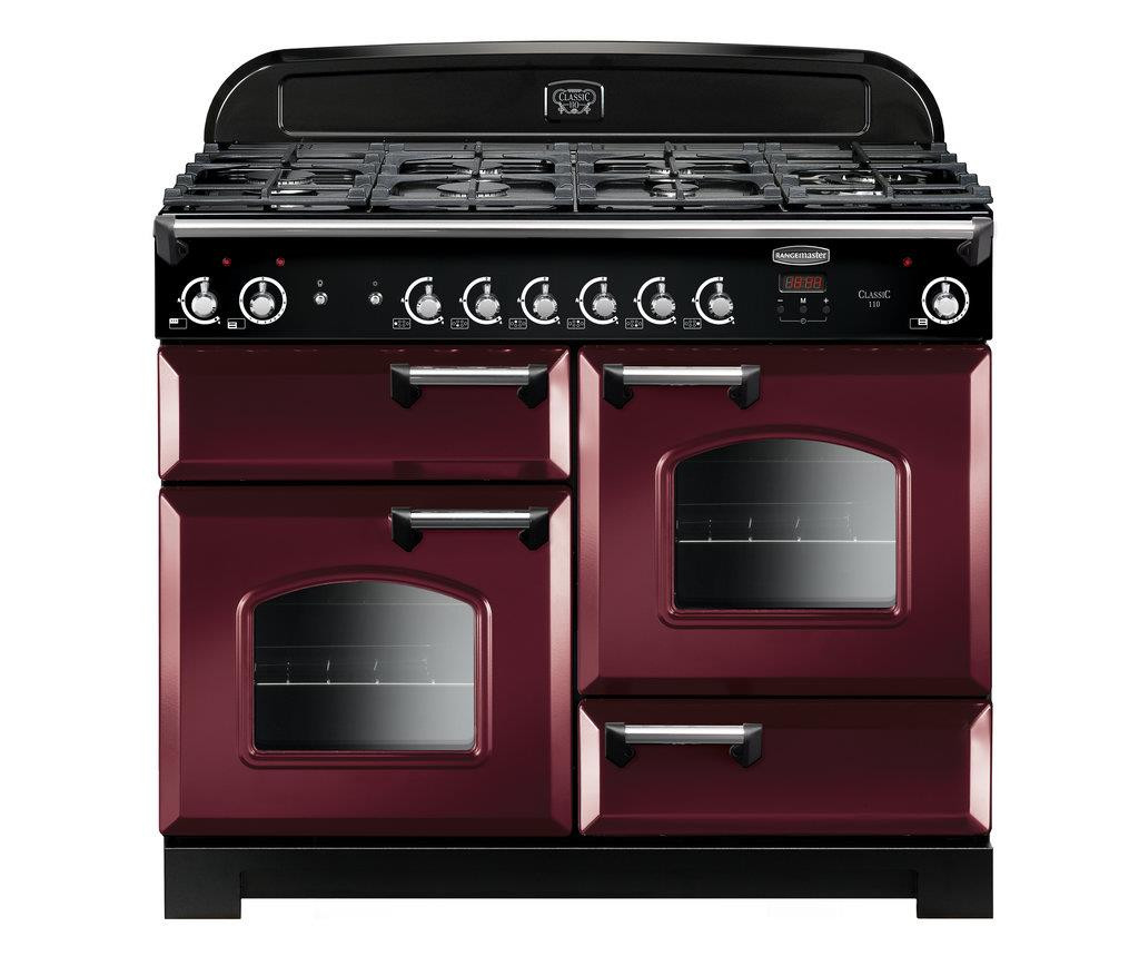 Rangemaster Classic 110 Natural Gas Cranberry Range Cooker CLA110NGFCY/C 116680