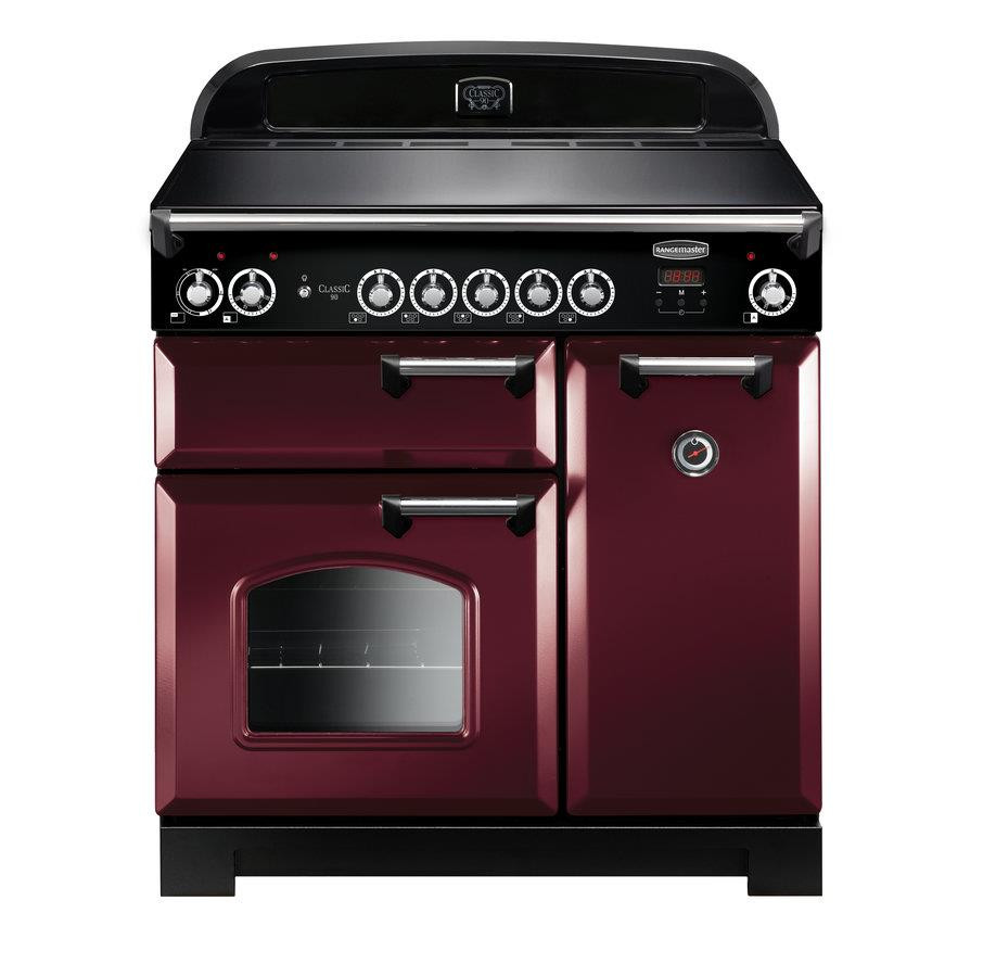 Rangemaster Classic 90 Induction Cranberry Range Cooker CLA90EICY/C 116960