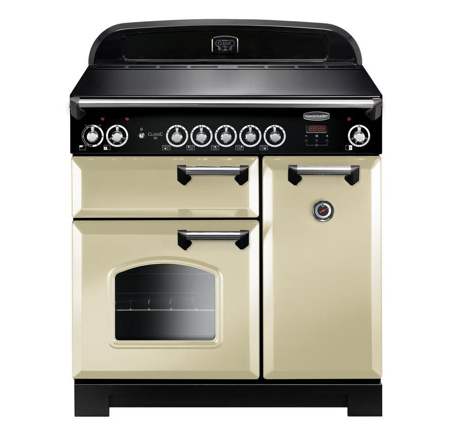 Rangemaster Classic 90 Induction Cream Range Cooker CLA90EICR/C 116950
