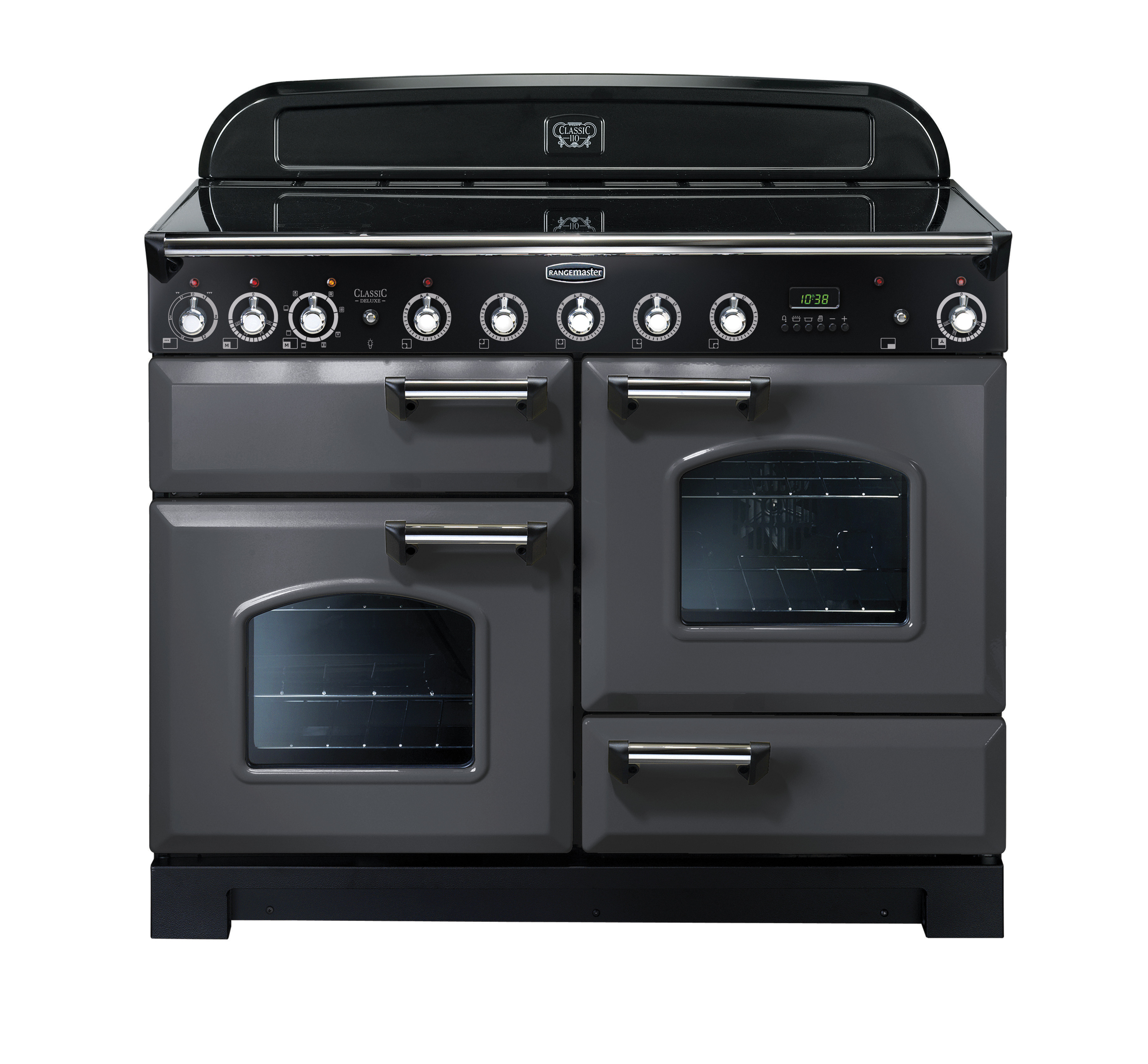 Rangemaster Classic Deluxe 110 Induction Range Cooker Slate/Chrome Trim CDL110EISL/C 123410
