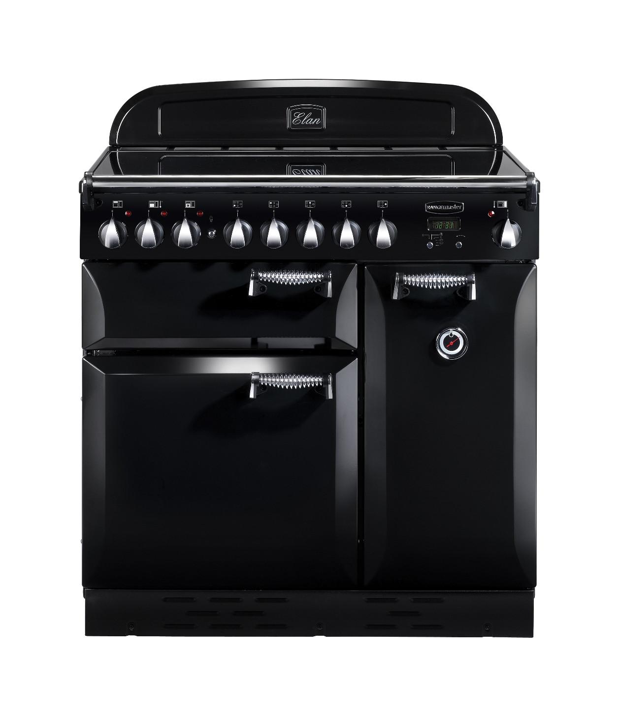 Rangemaster Elan 90 Induction Black Range Cooker 89400