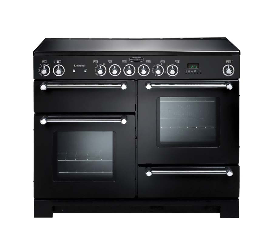 Rangemaster Kitchener 110 Ceramic Black Range Cooker KCH110ECBL/C 78860