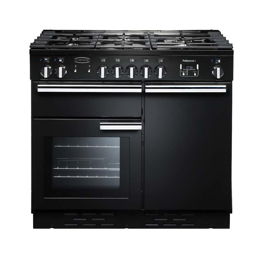 Rangemaster Professional Plus 100 Dual Fuel Black Range Cooker PROP100DFFGB/C 92600