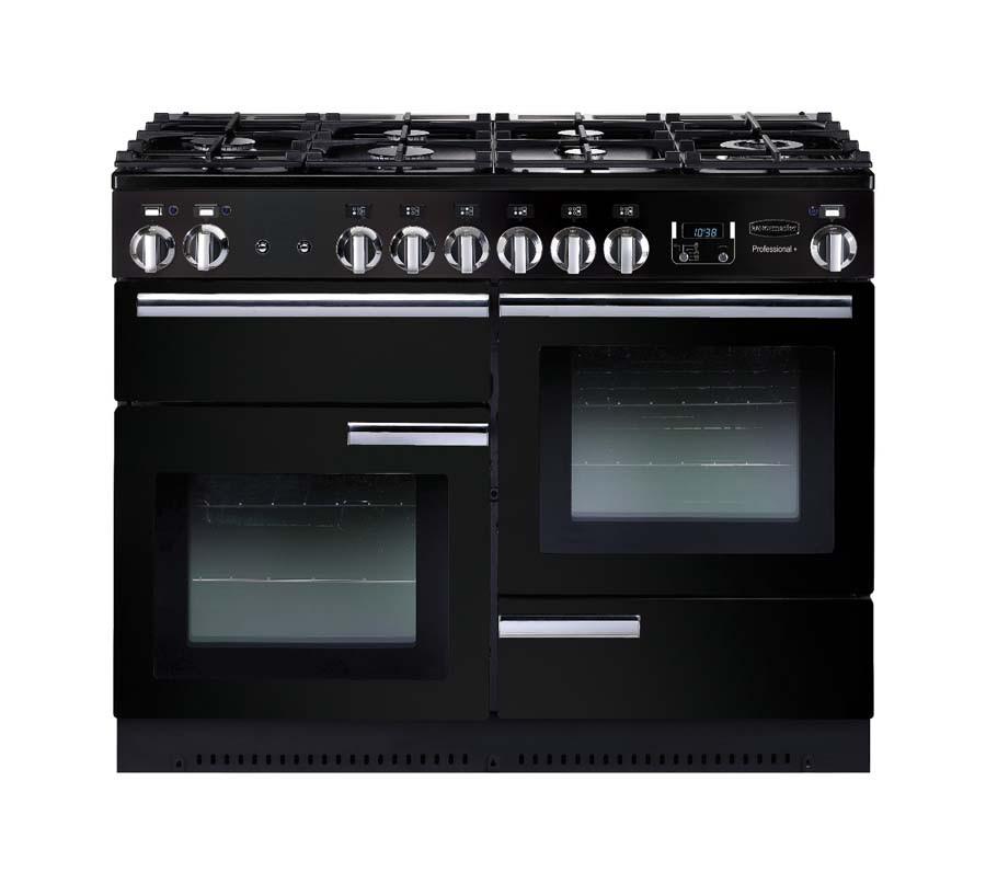 Rangemaster Professional Plus 110 Dual Fuel Black Range Cooker PROP110DFFGB/C 91680