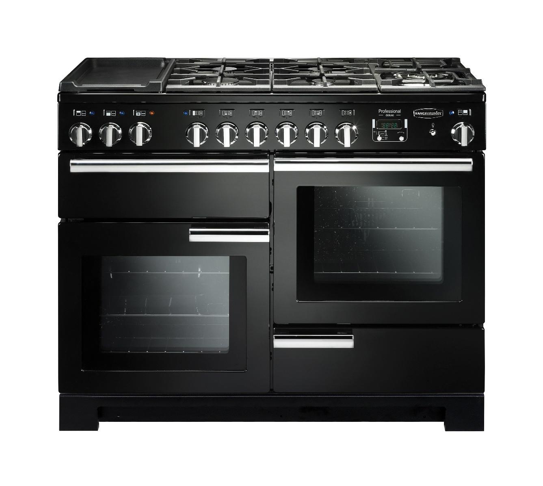 Rangemaster Professional Deluxe 110 Dual Fuel Black Range Cooker 97520