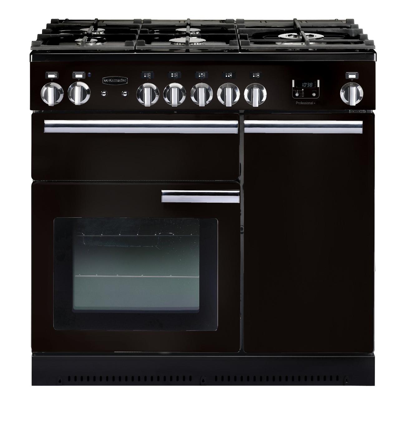 Rangemaster Professional Plus 90 Natural Gas Black Range Cooker 91930
