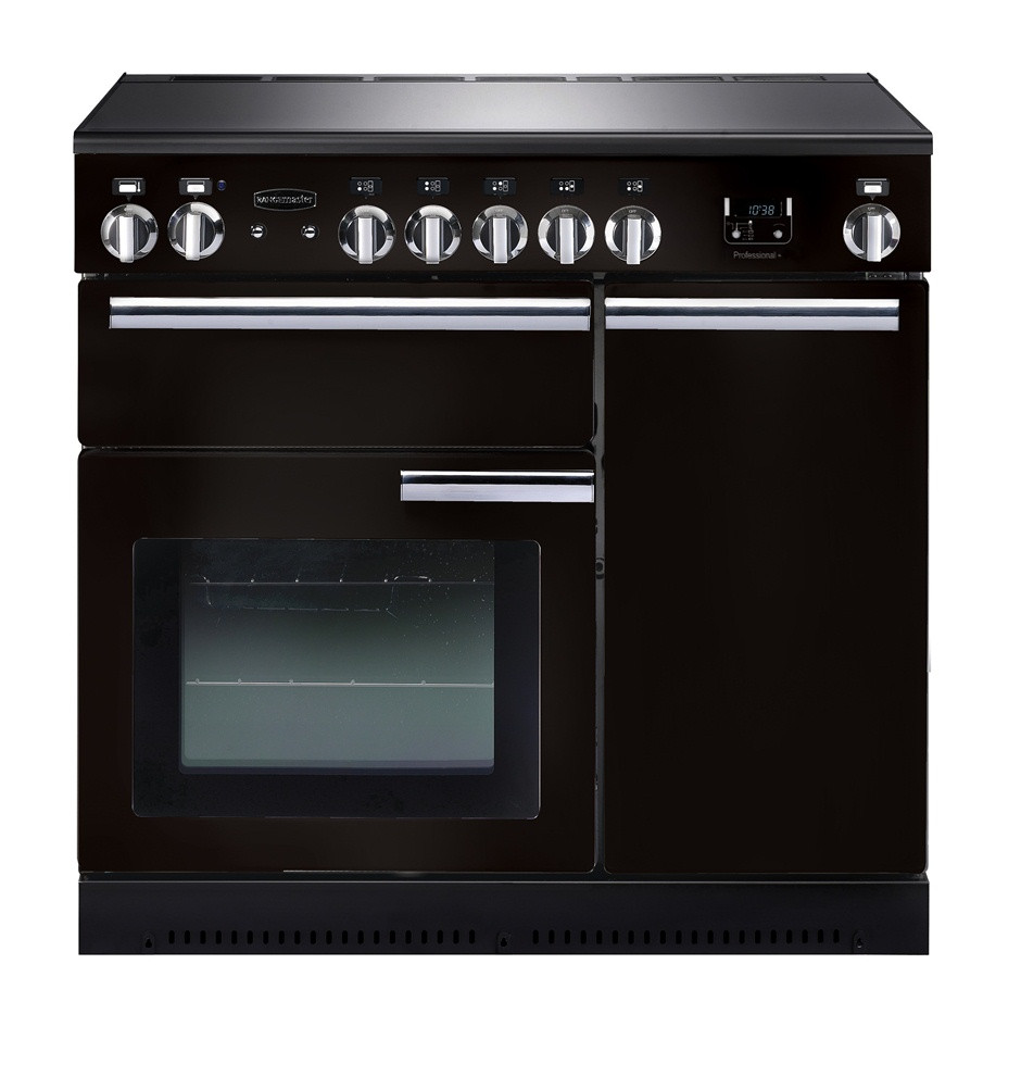 Rangemaster Professional Plus 90 Induction Black Range Cooker PROP90EIGB/C 91730
