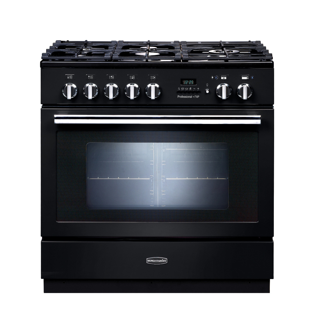 Rangemaster Professional Plus FXP Dual Fuel Black Range Cooker PROP90FXPDFFGB/C 92730