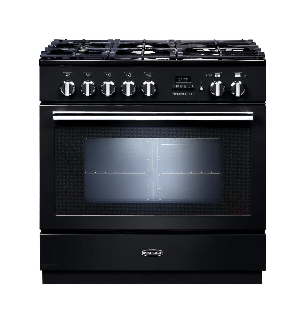 Rangemaster Professional Plus FXP Dual Fuel Black Range Cooker 92730