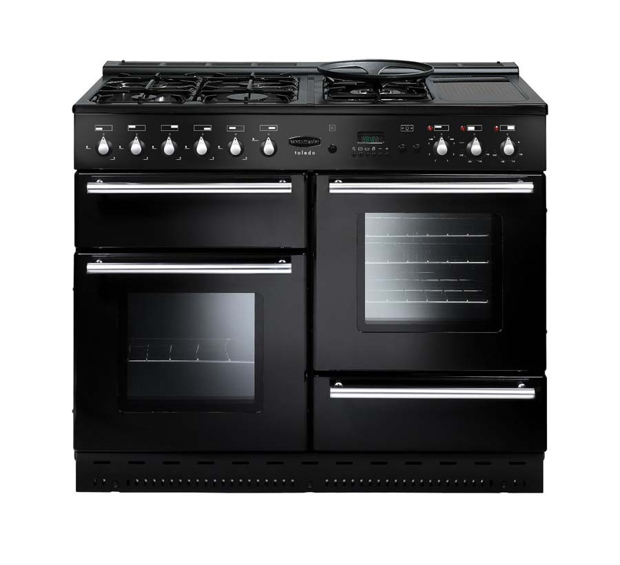 Rangemaster Toledo 110 Natural Gas Black Range Cooker 73820