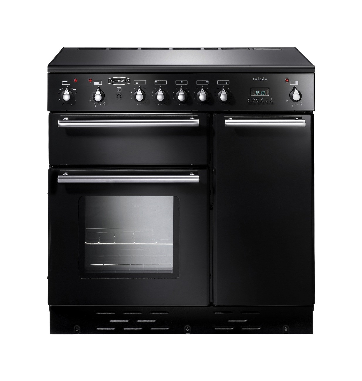 Rangemaster Toledo 90 Induction Black Range Cooker 88080