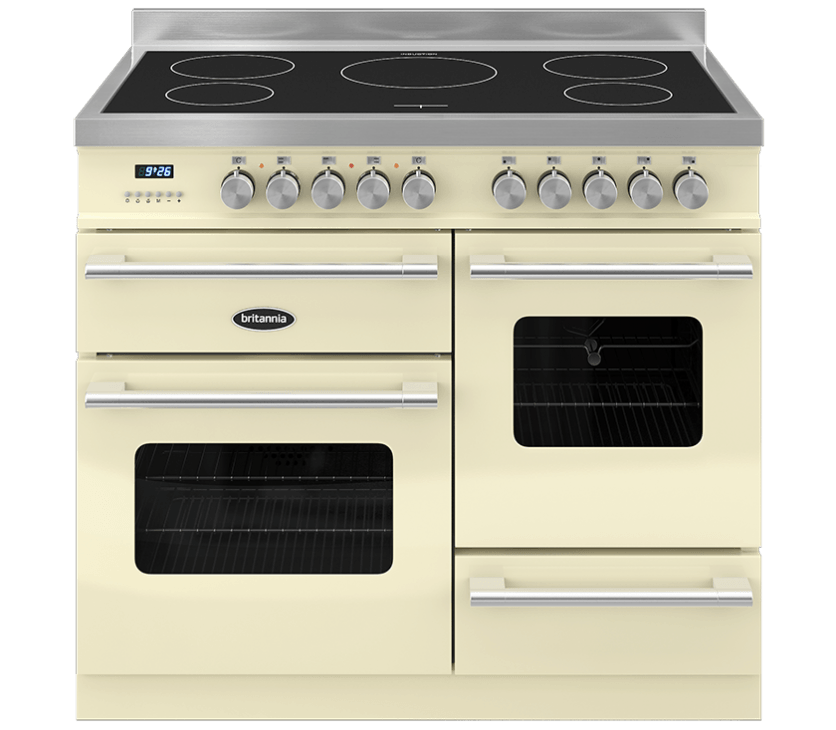 Britannia Delphi 100 XG - 5 Induction Zones Cream Range Cooker