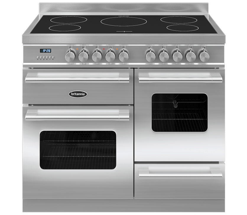 Britannia Delphi 100 XG - 5 Induction Zones Stainless Steel Range Cooker