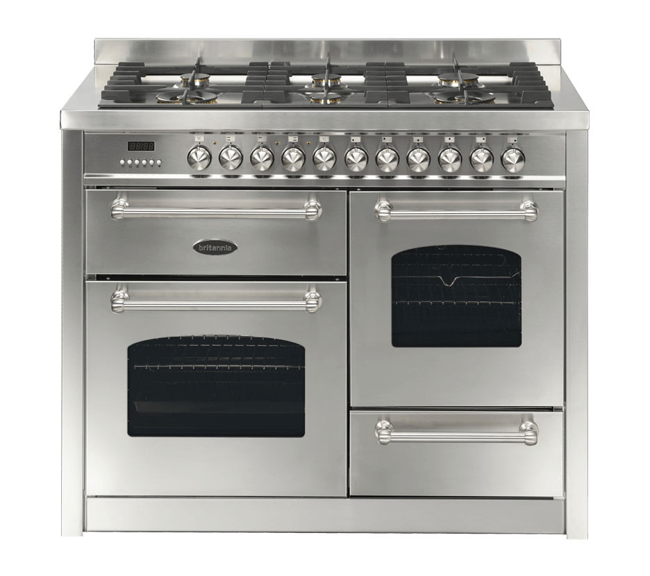 Britannia Fleet 110 XG - 6 Dual Fuel Burners Stainless Steel Range Cooker