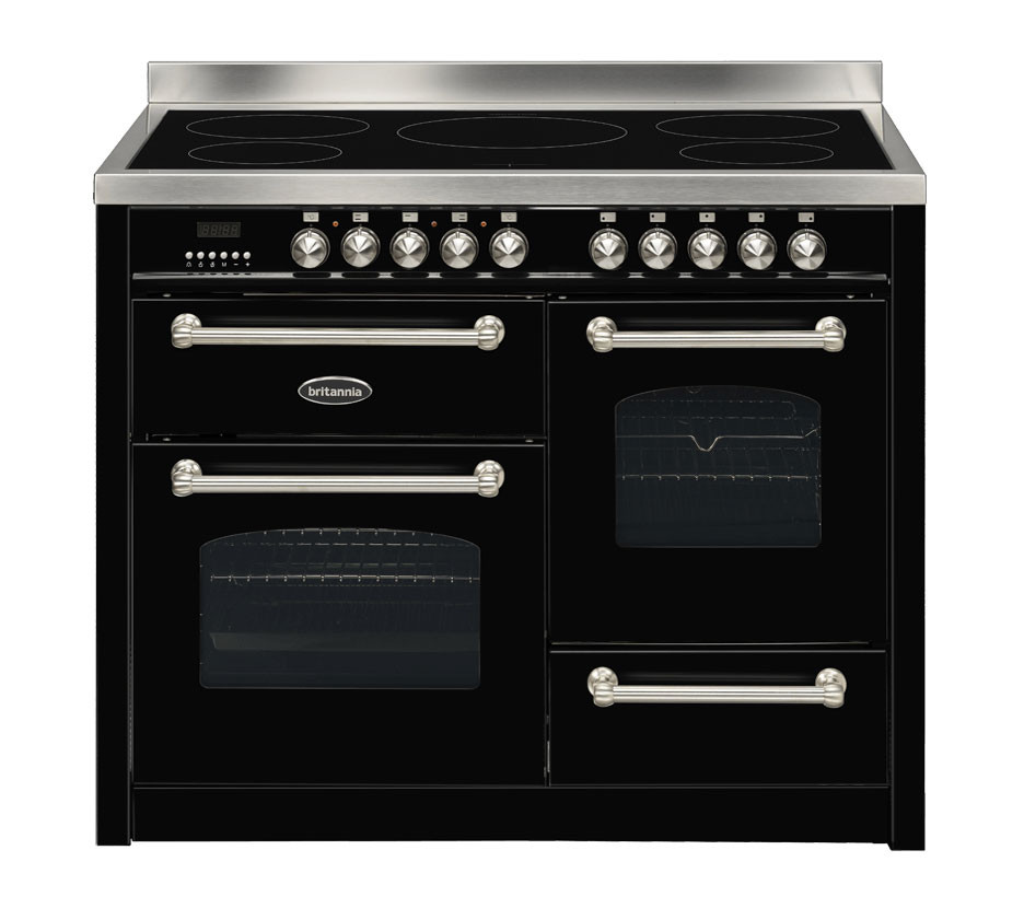 Britannia Fleet 110 XG - 5 Induction Zones Black Range Cooker